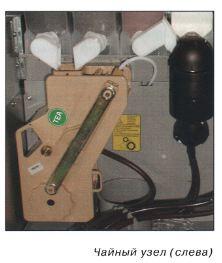 Чайный узел (слева) кофе-автомата